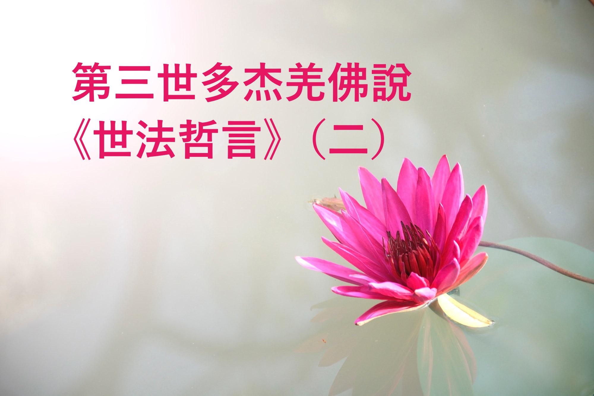 第三世多杰羌佛說 《世法哲言》(二)
