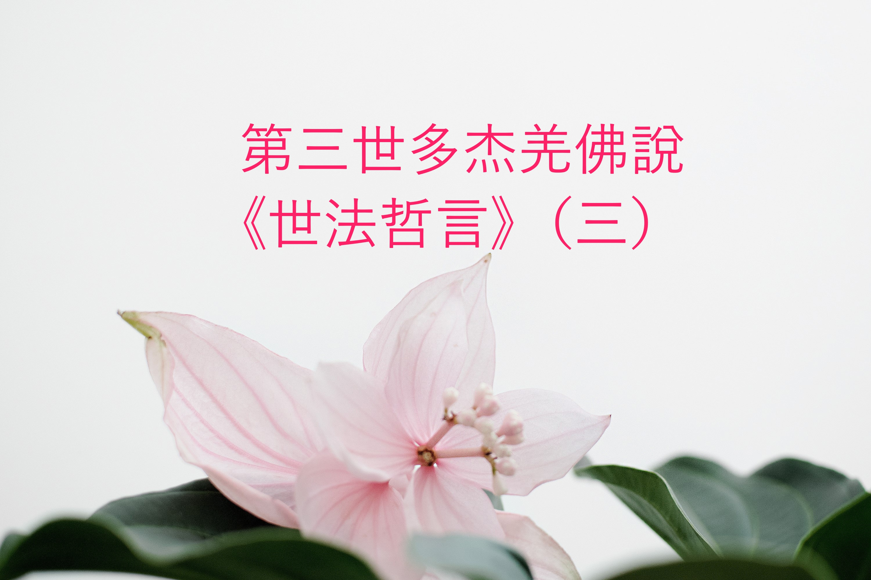 第三世多杰羌佛說 《世法哲言》(三)